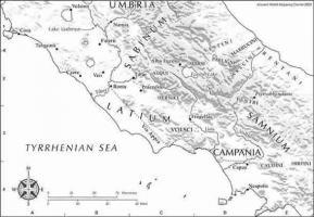 Carte du Samnium