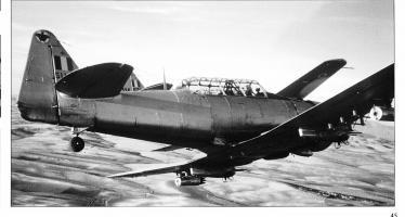 T-6 en vol